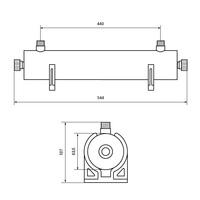 Стерилизираща лампа 1360 л/час